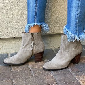 Snakeskin Genuine Leather Distressed Ankle Boots